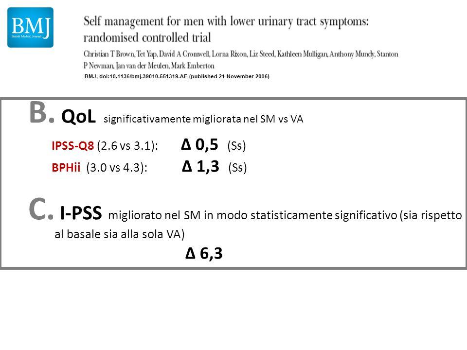 QoL significativamente migliorata nel SM vs VA