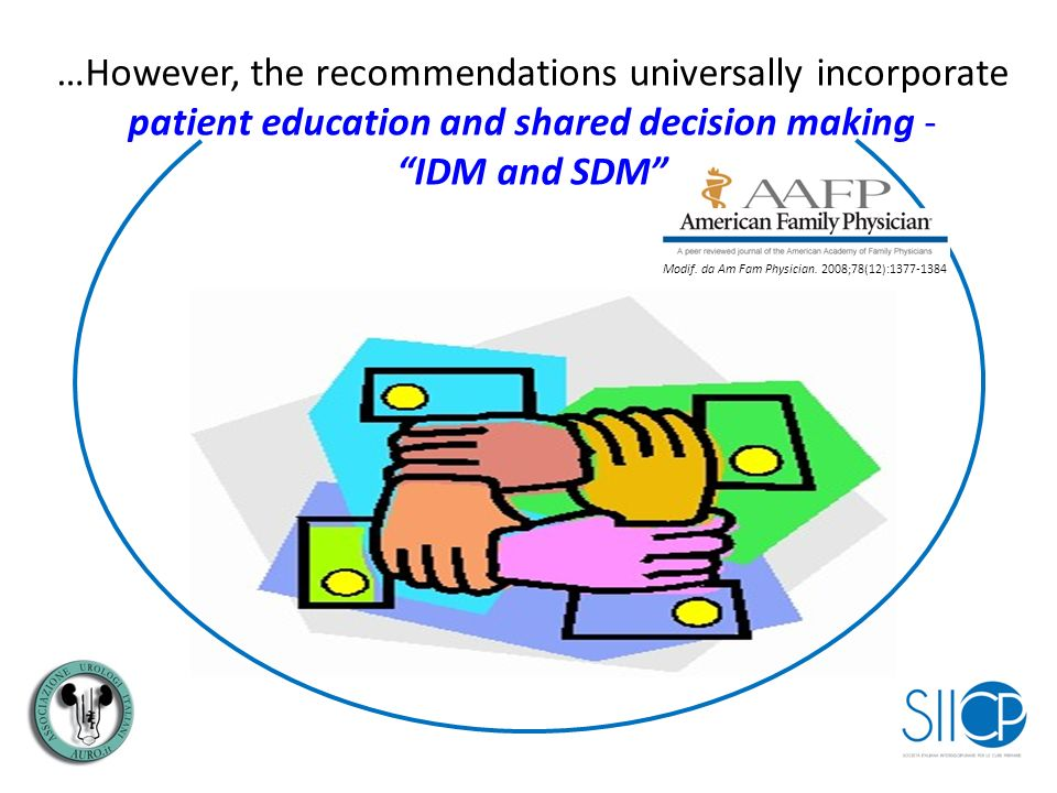 …However, the recommendations universally incorporate