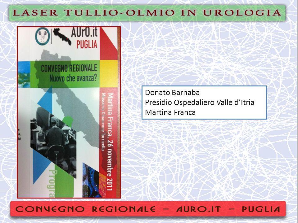 Donato Barnaba Presidio Ospedaliero Valle d'Itria Martina Franca