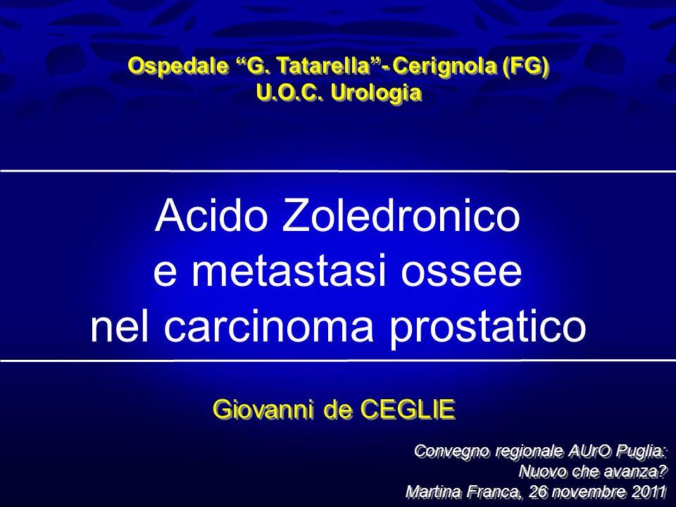 Acido Zoledronico e metastasi ossee nel carcinoma prostatico