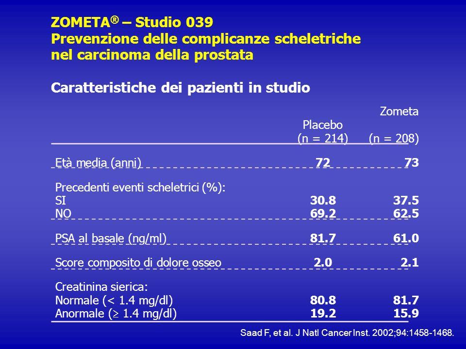 Caratteristiche dei pazienti in studio