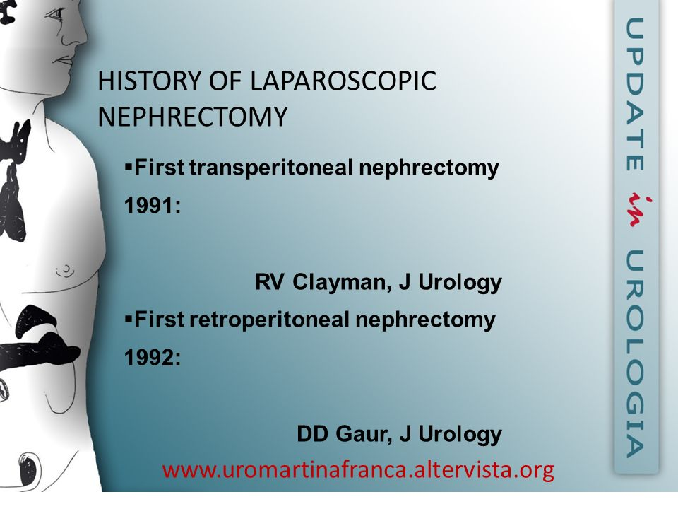 HISTORY OF LAPAROSCOPIC NEPHRECTOMY