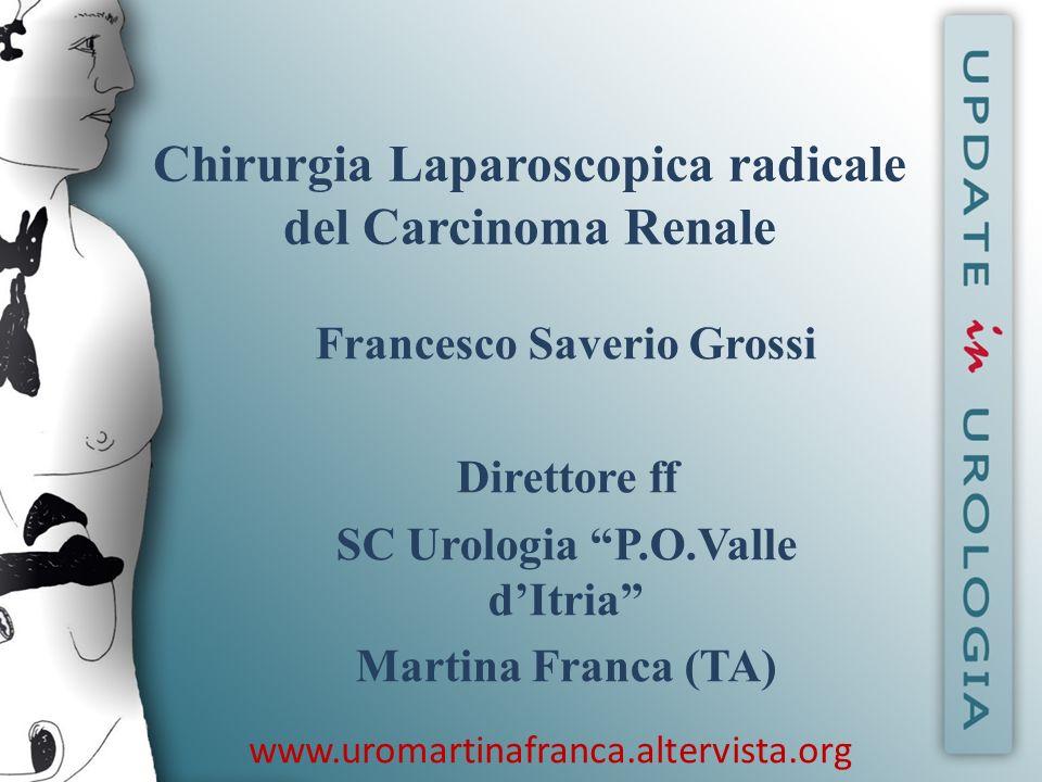 Chirurgia Laparoscopica radicale del Carcinoma Renale