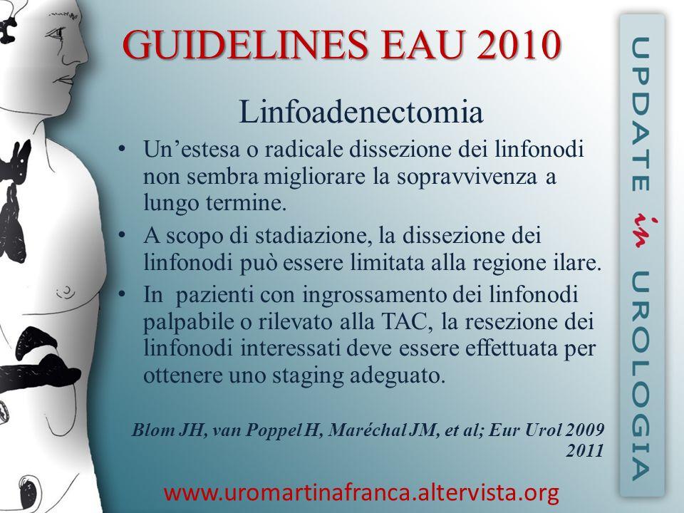 GUIDELINES EAU 2010 Linfoadenectomia