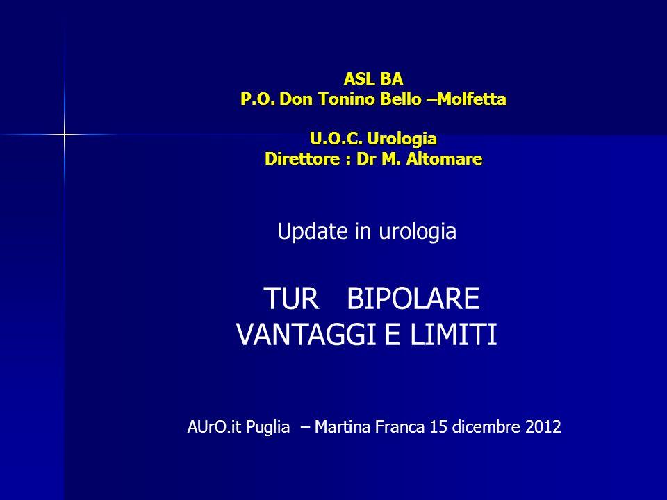 TUR BIPOLARE VANTAGGI E LIMITI Update in urologia