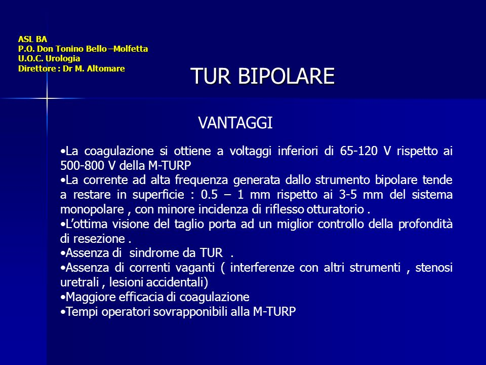ASL BA P. O. Don Tonino Bello –Molfetta U. O. C