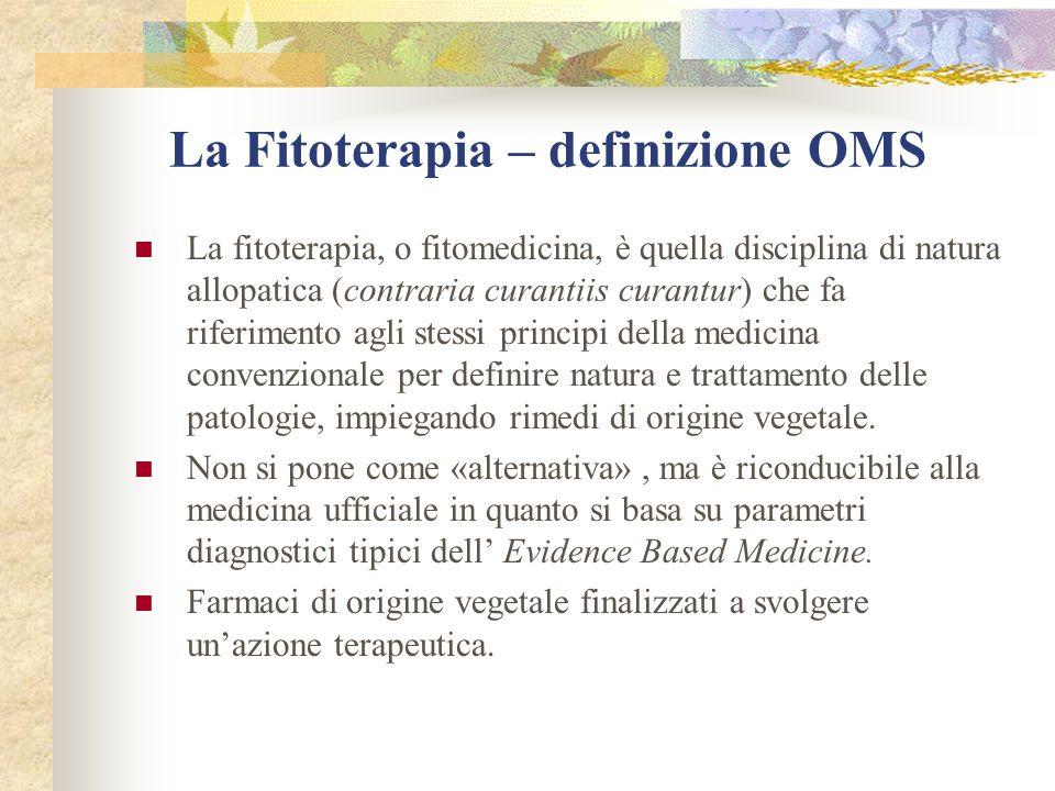 La Fitoterapia – definizione OMS