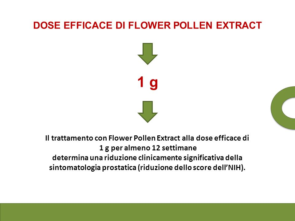1 g DOSE EFFICACE DI FLOWER POLLEN EXTRACT