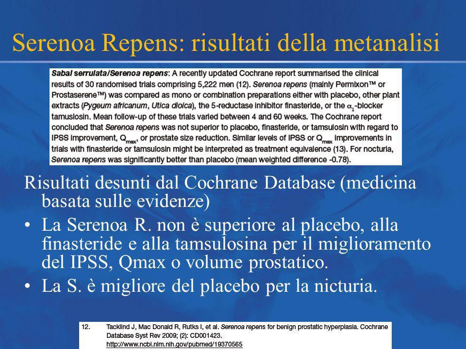 Serenoa Repens: risultati della metanalisi