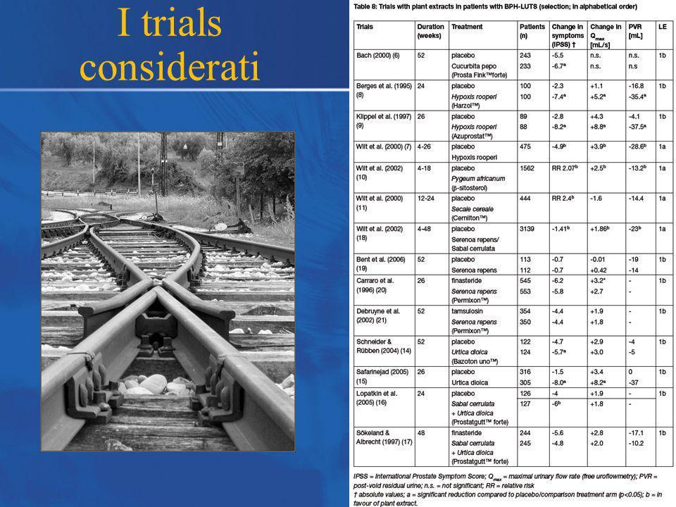 I trials considerati