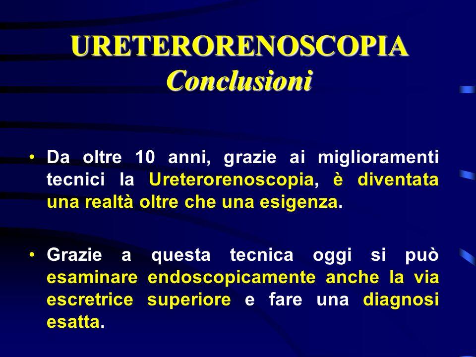 URETERORENOSCOPIA Conclusioni