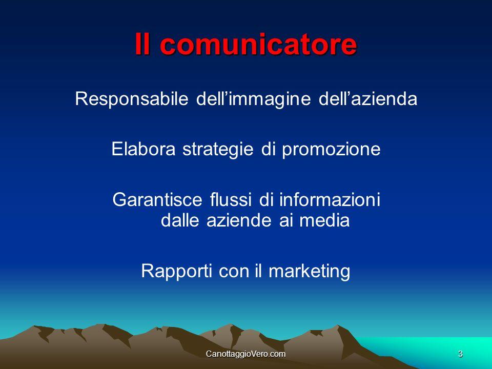 Il comunicatore Responsabile dell'immagine dell'azienda