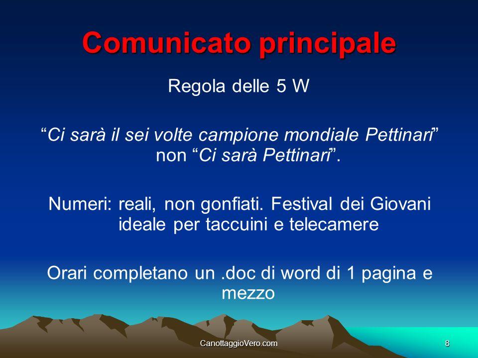 Comunicato principale