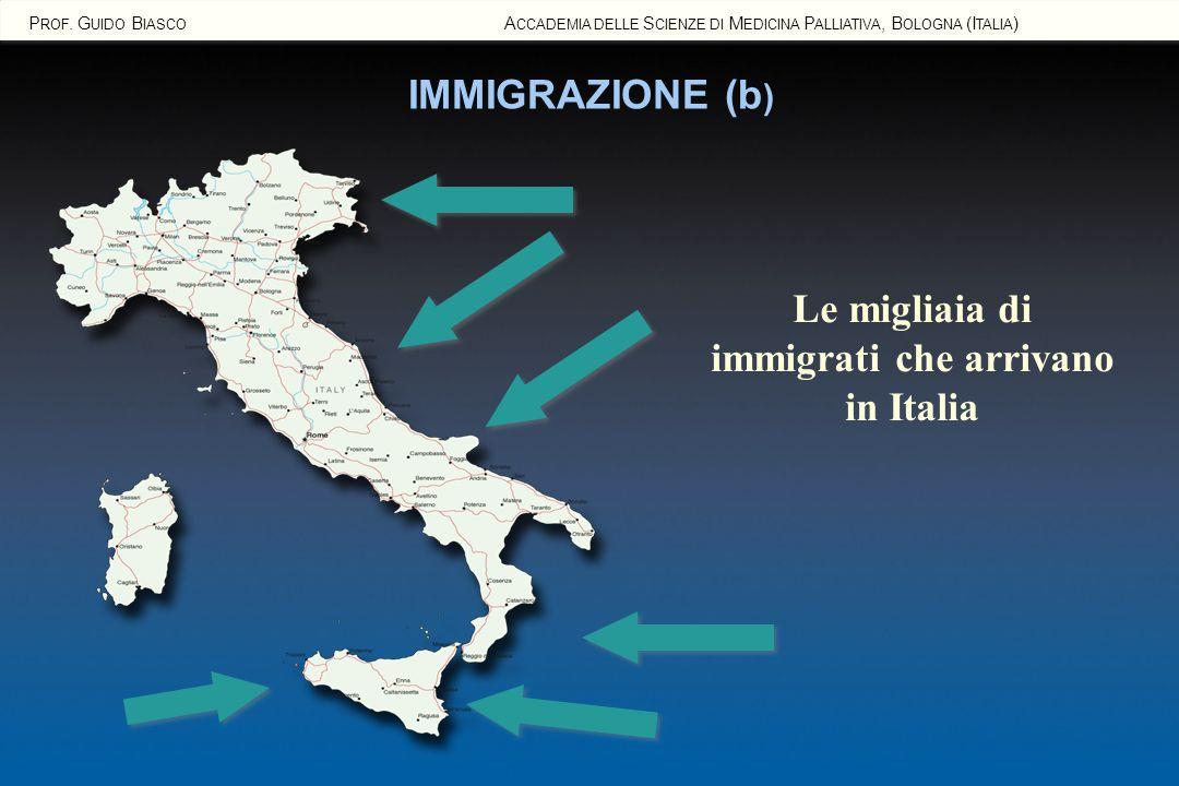 Le migliaia di immigrati che arrivano in Italia