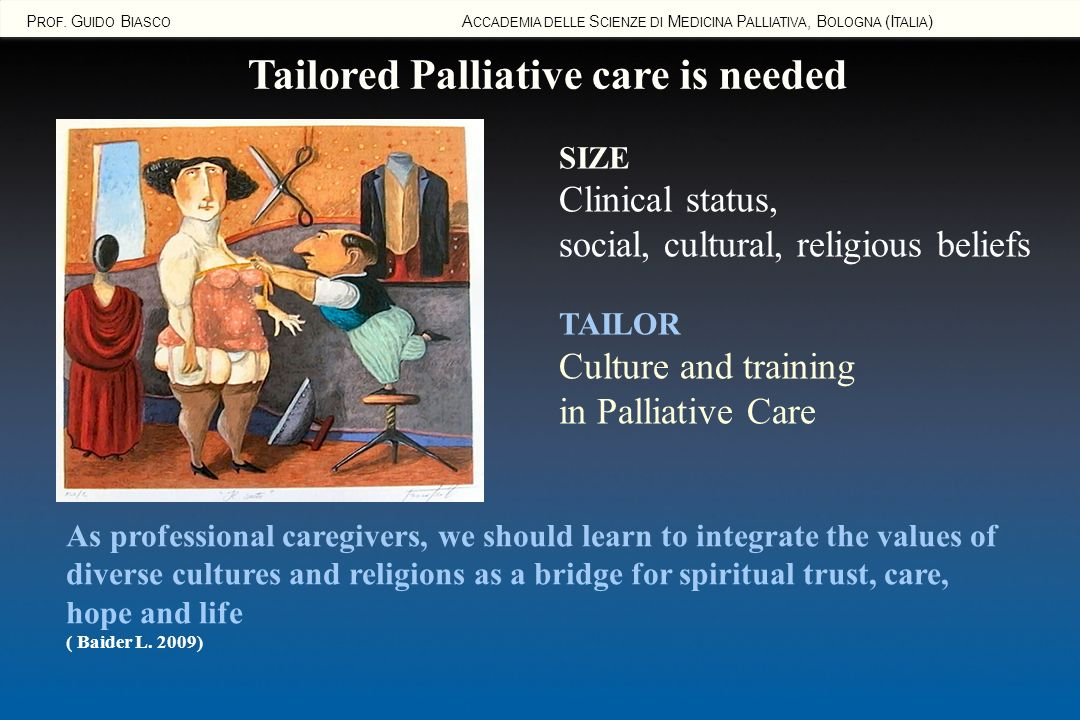 Tailored Palliative care is needed