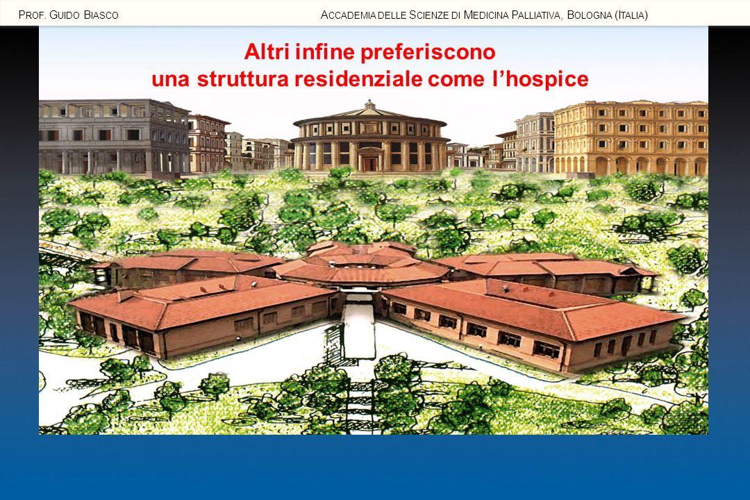 Altri infine preferiscono una struttura residenziale come l'hospice