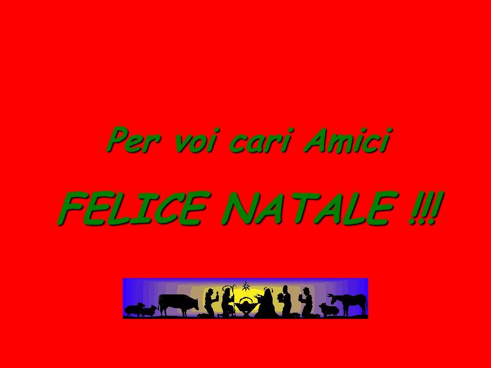 Per voi cari Amici FELICE NATALE !!!