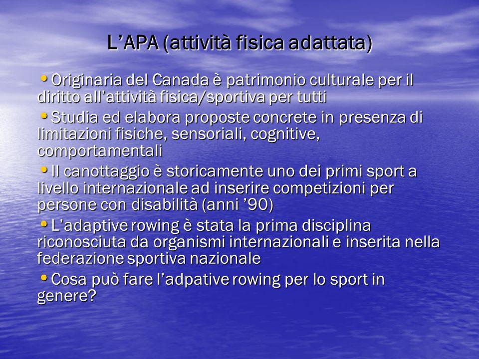 L'APA (attività fisica adattata)