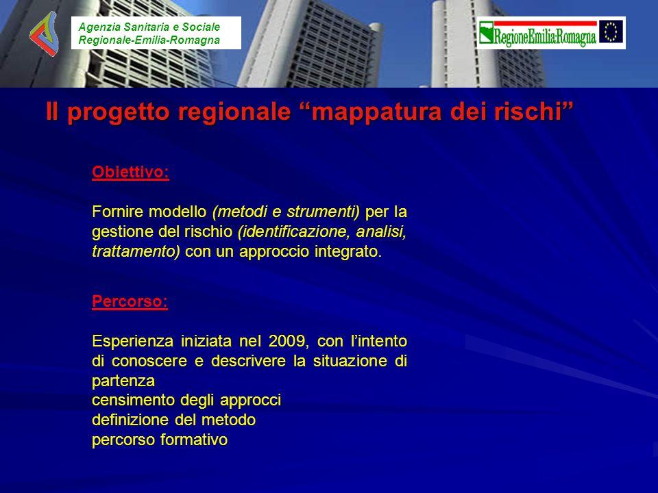 Il progetto regionale mappatura dei rischi