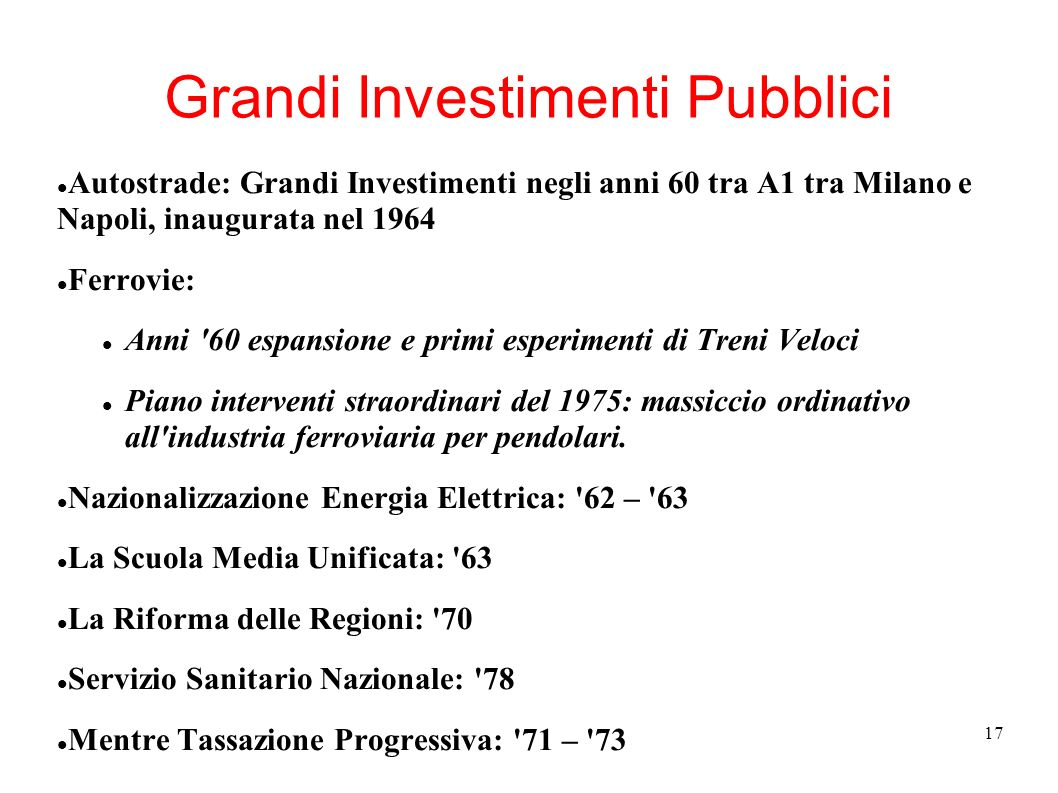 Grandi Investimenti Pubblici