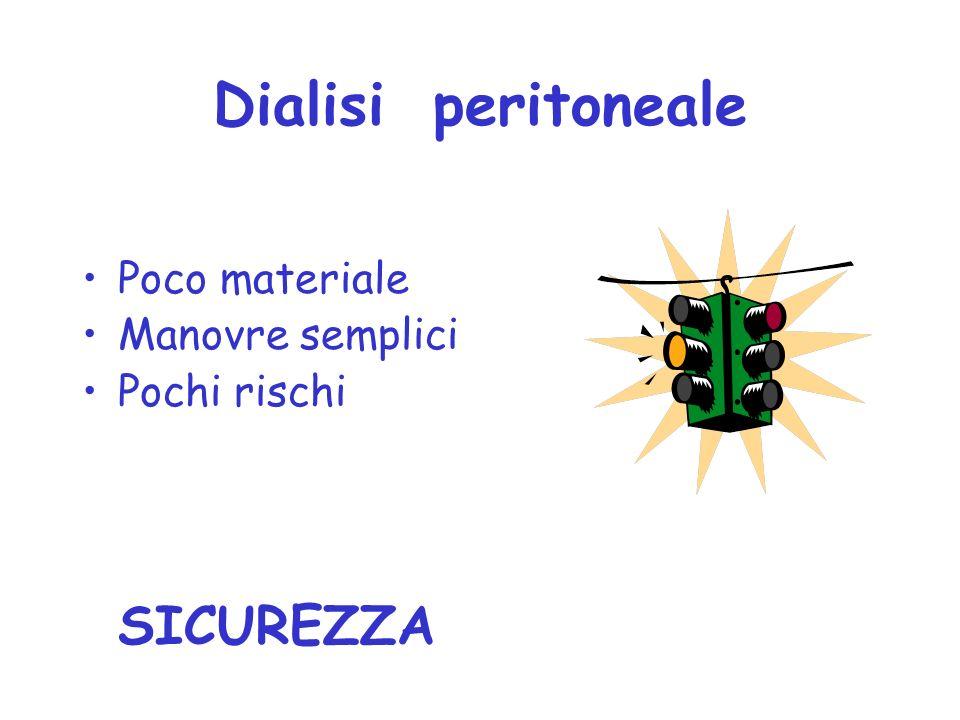 Dialisi peritoneale SICUREZZA Poco materiale Manovre semplici
