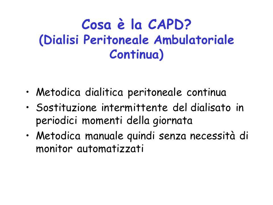 Cosa è la CAPD (Dialisi Peritoneale Ambulatoriale Continua)