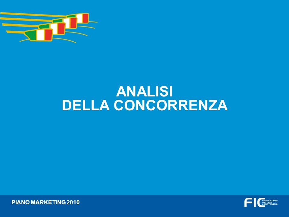 Divisori ANALISI DELLA CONCORRENZA PIANO MARKETING 2010
