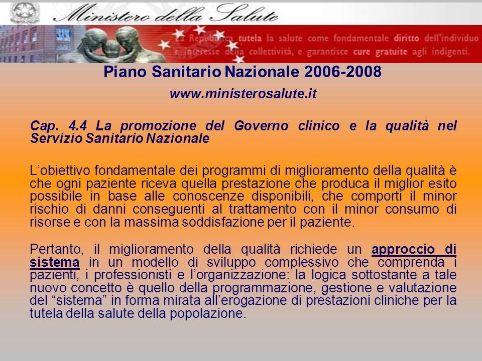 Piano Sanitario Nazionale 2006-2008