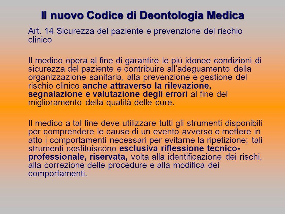 Il nuovo Codice di Deontologia Medica