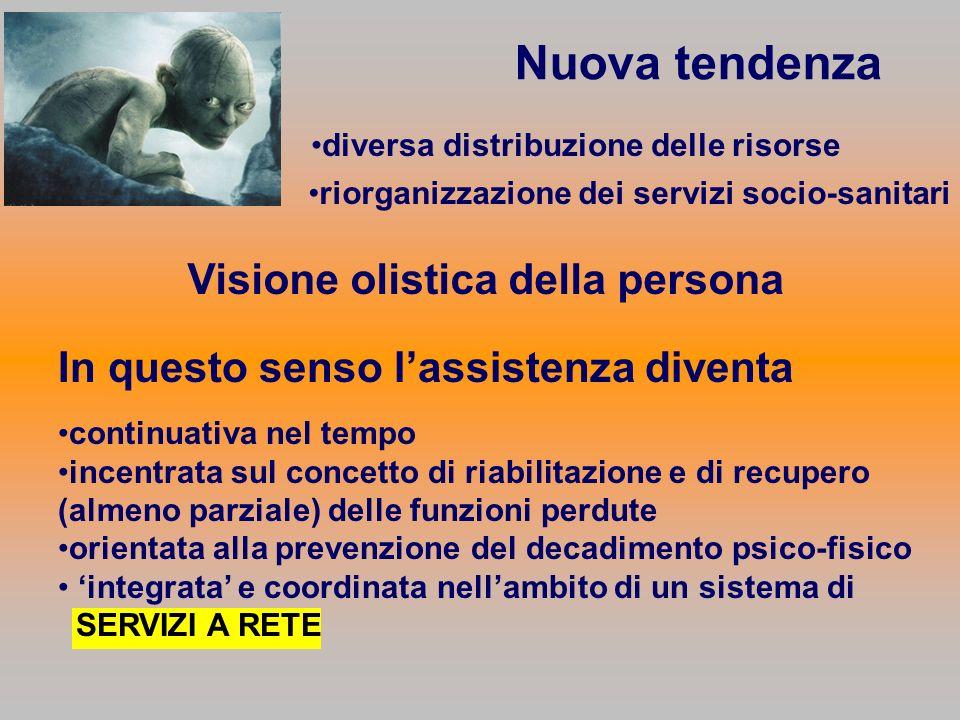 Nuova tendenza Visione olistica della persona