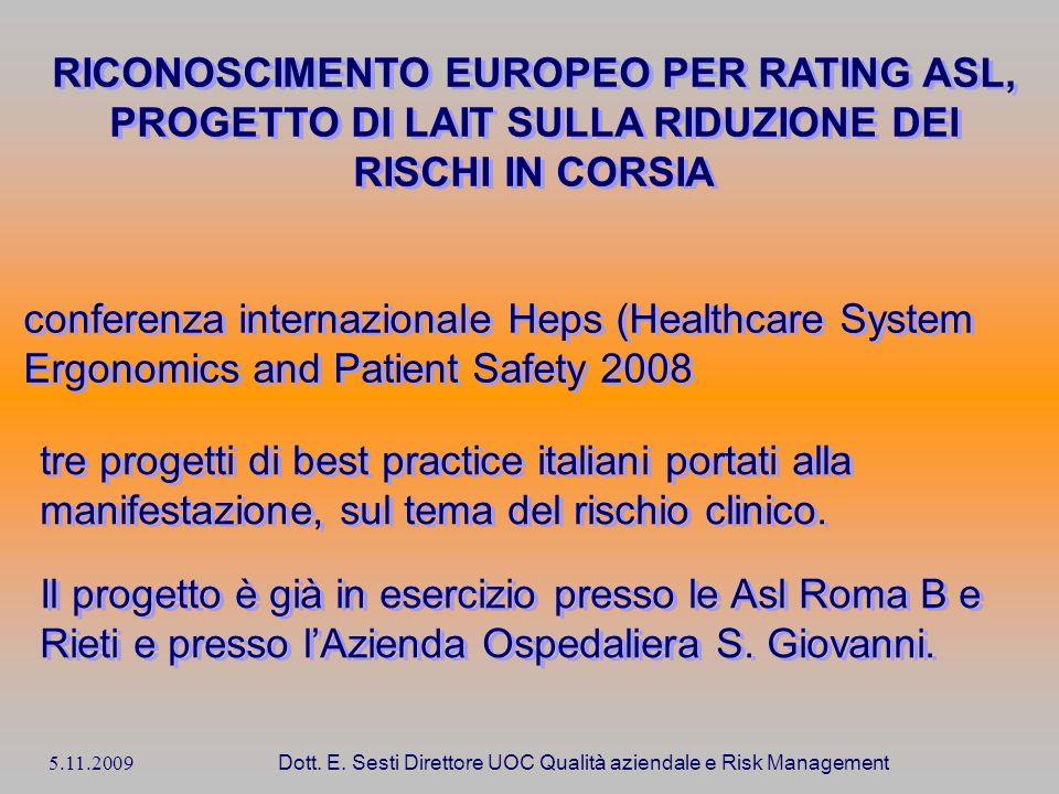 RICONOSCIMENTO EUROPEO PER RATING ASL,
