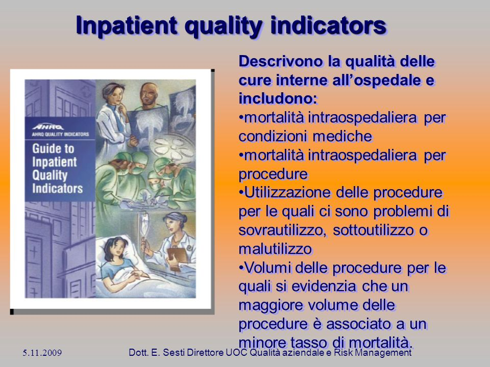 Inpatient quality indicators