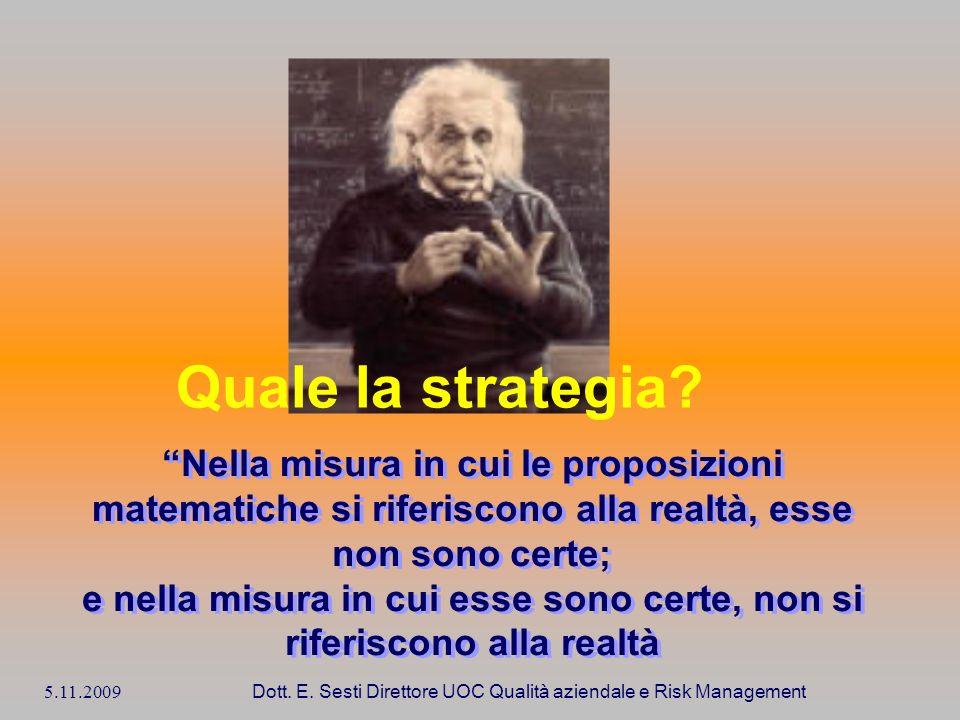 Quale la strategia Nella misura in cui le proposizioni matematiche si riferiscono alla realtà, esse non sono certe;