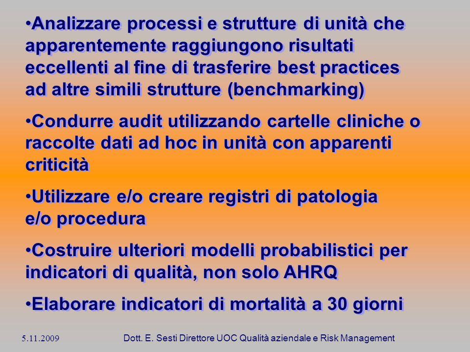 Dott. E. Sesti Direttore UOC Qualità aziendale e Risk Management