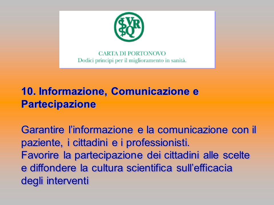 10. Informazione, Comunicazione e Partecipazione