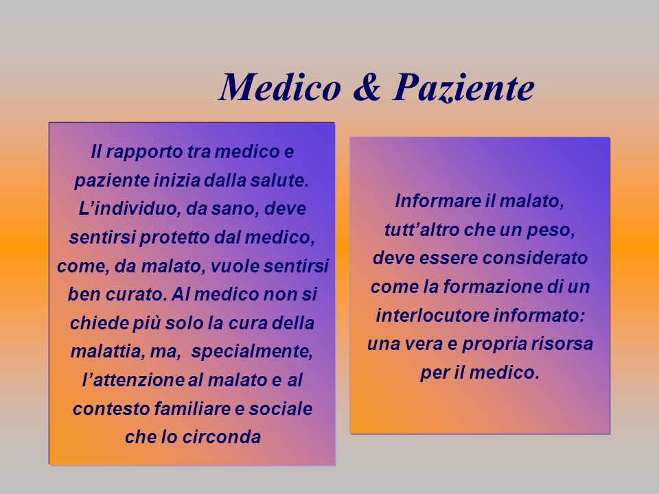 Medico & Paziente