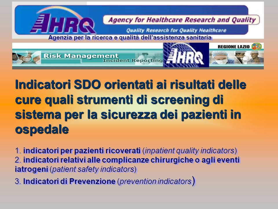 Agenzia per la ricerca e qualità dell'assistenza sanitaria