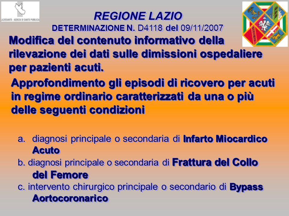 DETERMINAZIONE N. D4118 del 09/11/2007