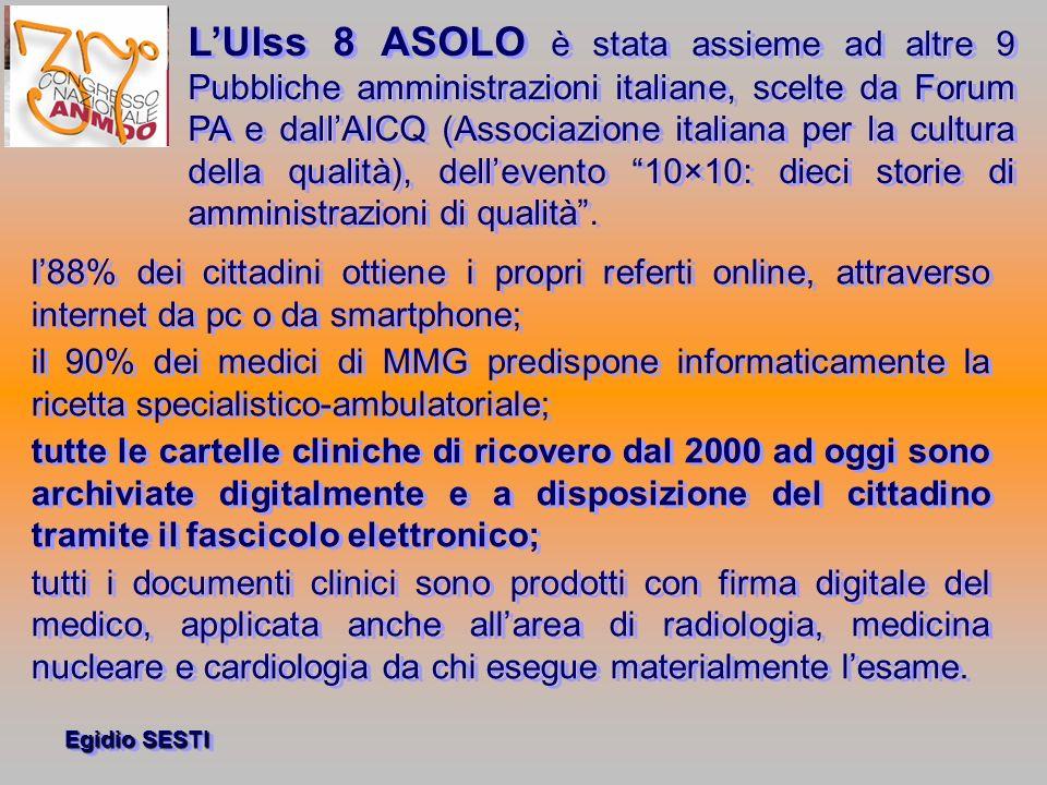 L'Ulss 8 ASOLO è stata assieme ad altre 9 Pubbliche amministrazioni italiane, scelte da Forum PA e dall'AICQ (Associazione italiana per la cultura della qualità), dell'evento 10×10: dieci storie di amministrazioni di qualità .
