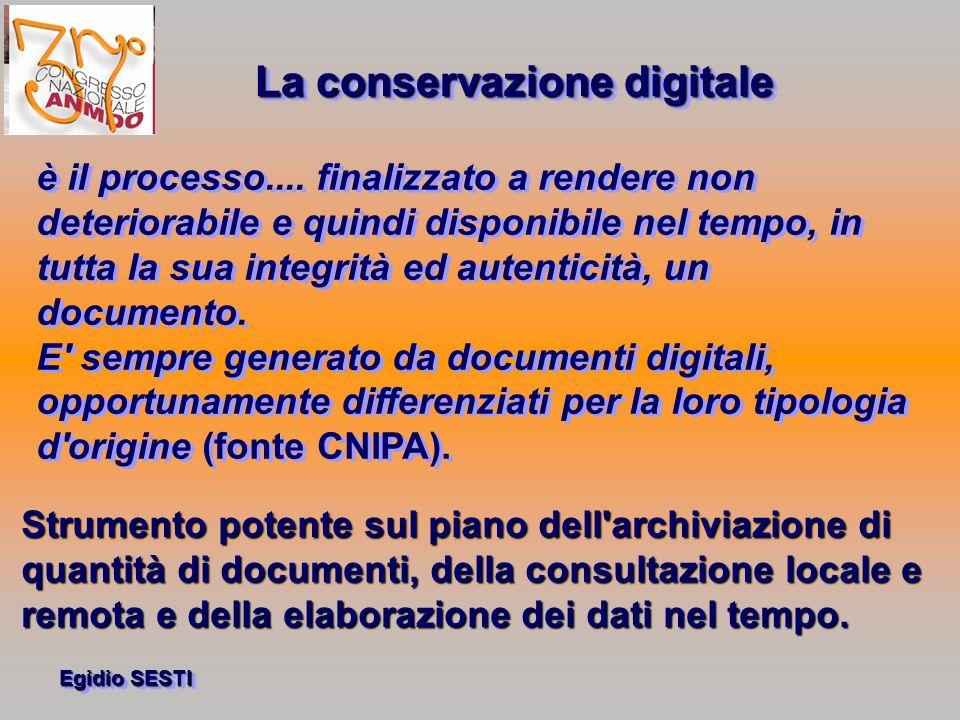 La conservazione digitale