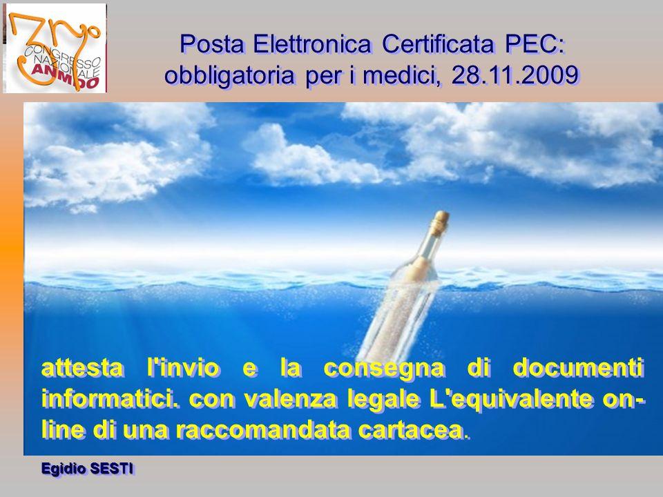 Posta Elettronica Certificata PEC:
