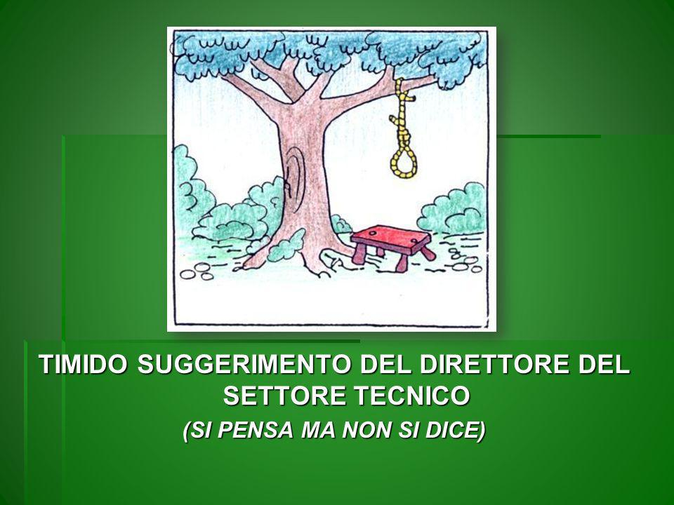 TIMIDO SUGGERIMENTO DEL DIRETTORE DEL SETTORE TECNICO
