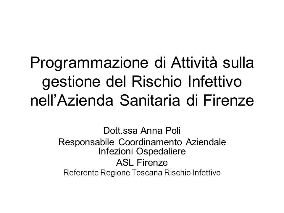 Programmazione di Attività sulla gestione del Rischio Infettivo nell'Azienda Sanitaria di Firenze