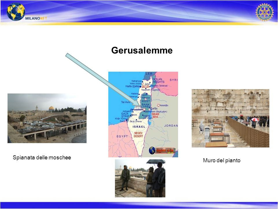 Gerusalemme Spianata delle moschee Muro del pianto