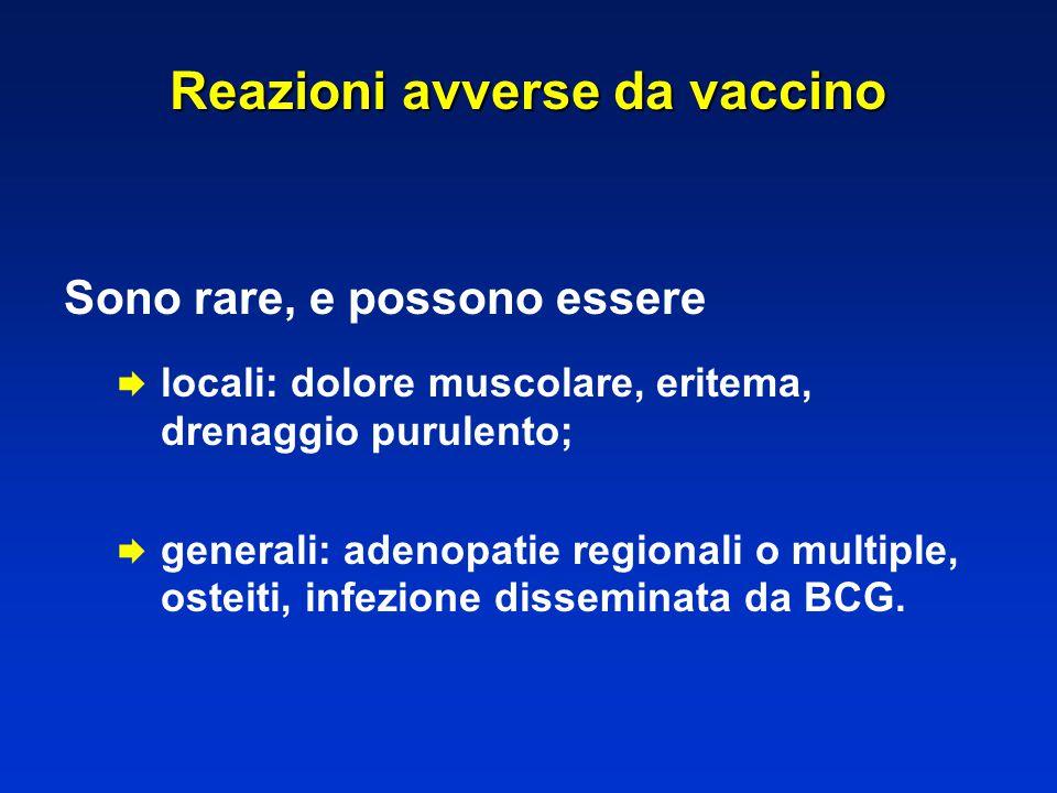 Reazioni avverse da vaccino