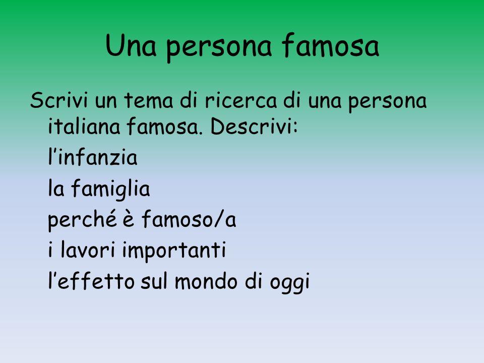 Una persona famosa