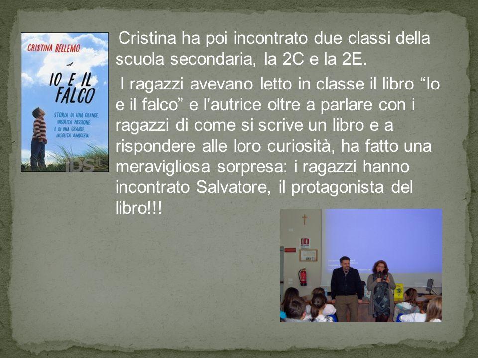 Cristina ha poi incontrato due classi della scuola secondaria, la 2C e la 2E.