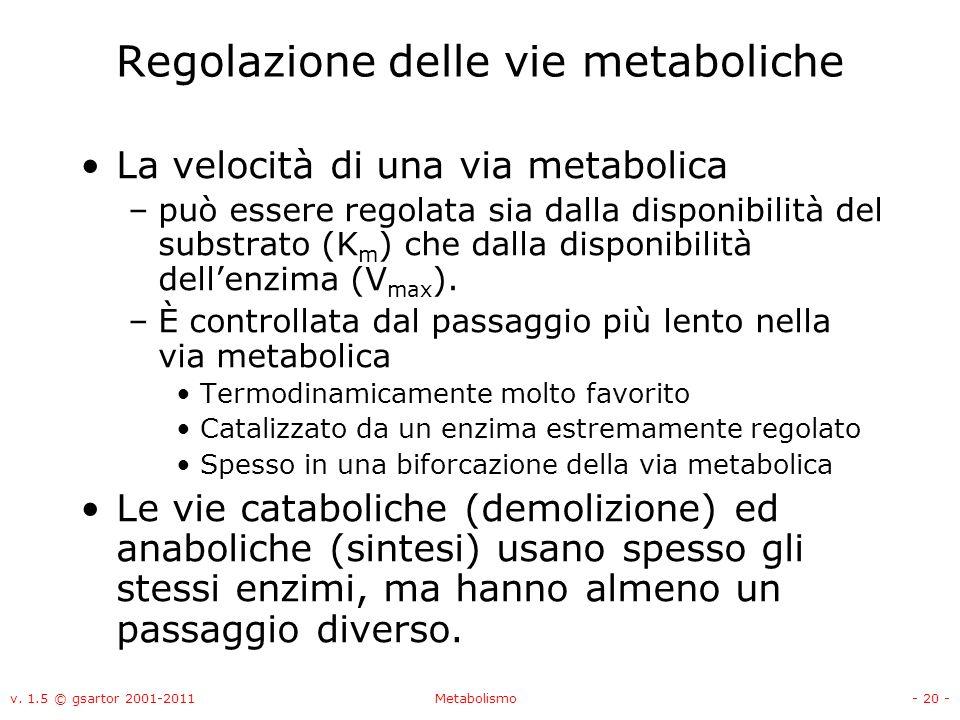 Regolazione delle vie metaboliche
