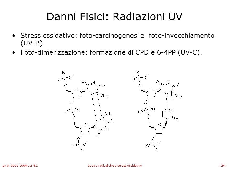 Danni Fisici: Radiazioni UV