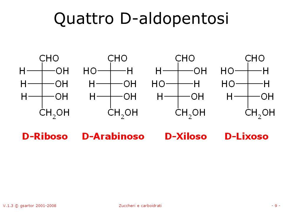 Quattro D-aldopentosi